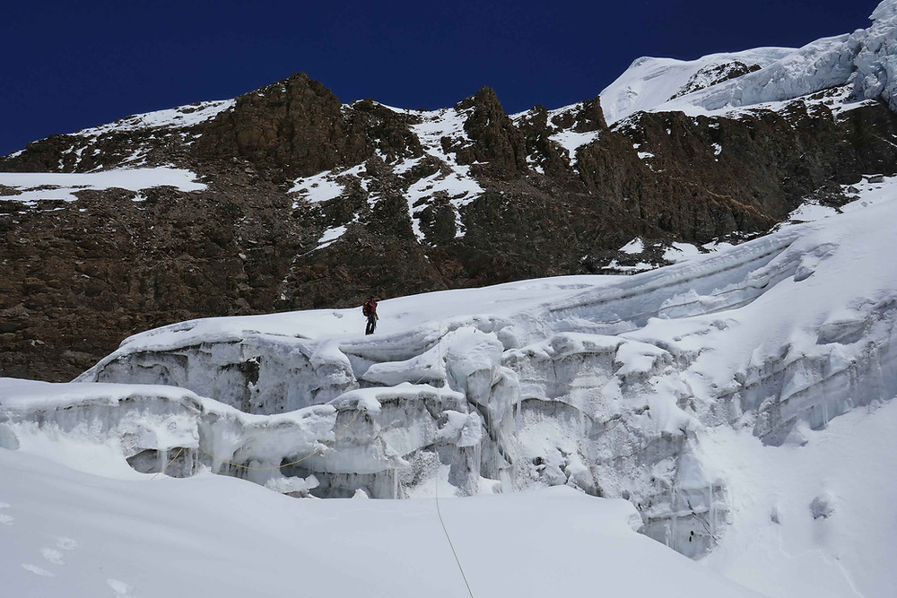 Proche de la sortie de l'icefall