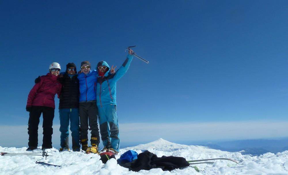 Sommet du Lanin atteint en ski de randonnée