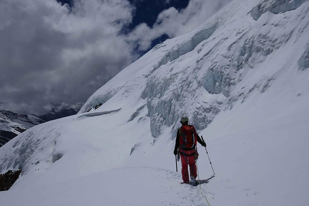 Emilie de retour sur le glacier