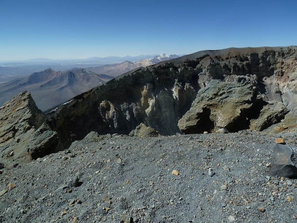 Cratère du volcan Parinacota