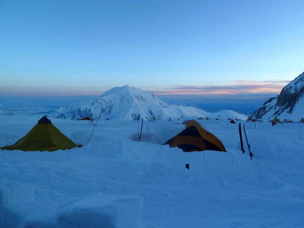 tentes du camp 3 au Denali