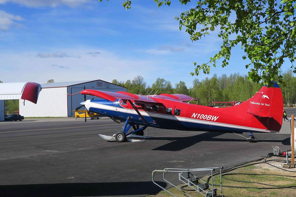 avion local (Talkeetna) pour aller sur le glacier