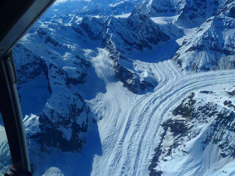 vue sur le glacier du Denali