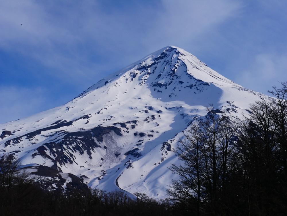 Le volcan Lanin, skiable depuis le sommet