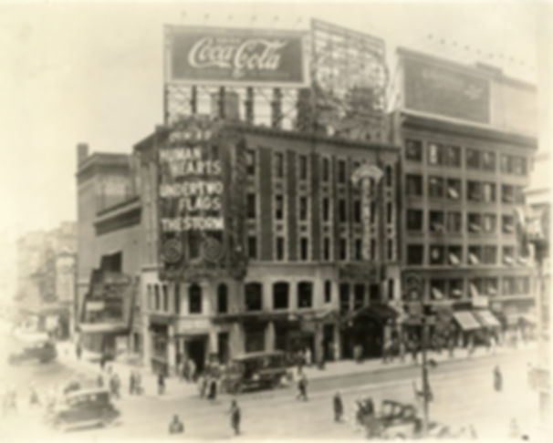 Coca-Cola billboard ad in Times Square - circa 1920