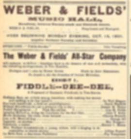 Weber& Fields