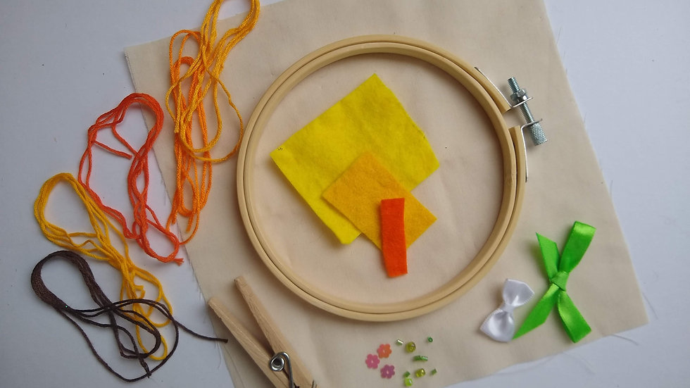 Easter Chick in a Hoop Stitch Kit