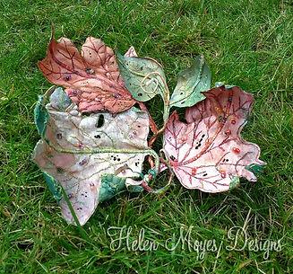 Helen MoyesTextile Art Arrangement using