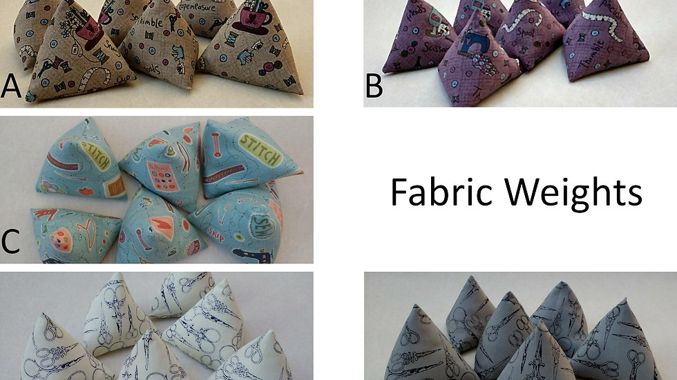 Set of 6 Fabric Weights