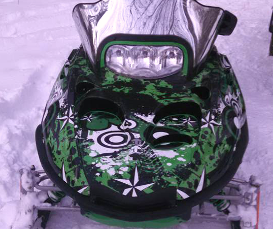Custom Snowmobile wrap