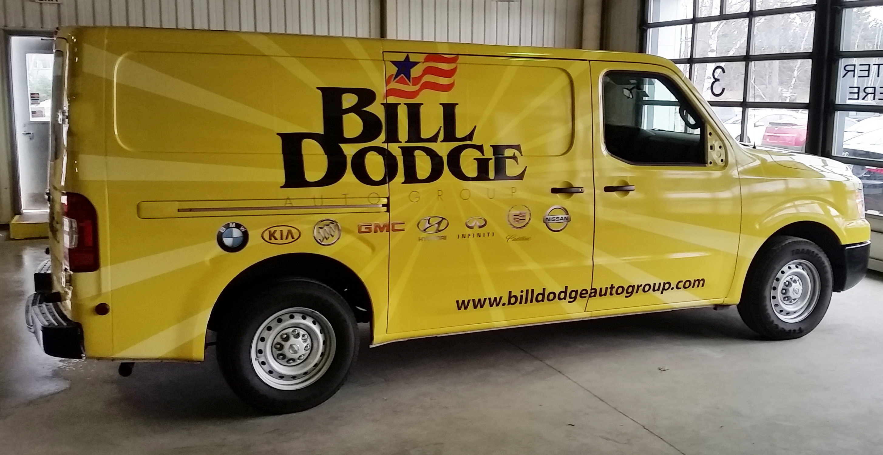 Bill Dodge Parts Van wrap