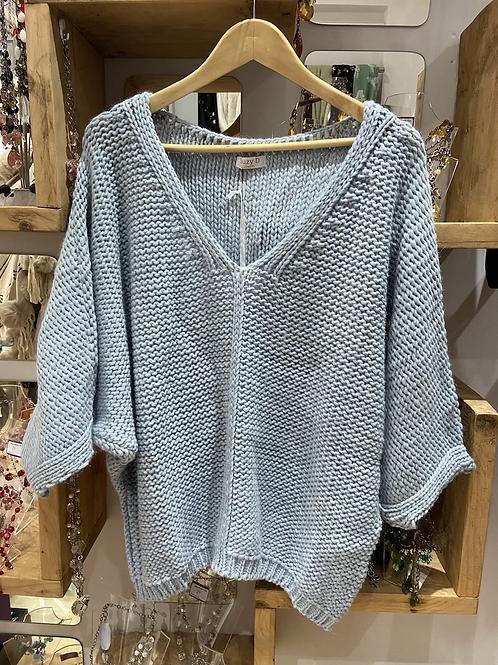 Suzy D chunky knit v neck jumper choice of colour