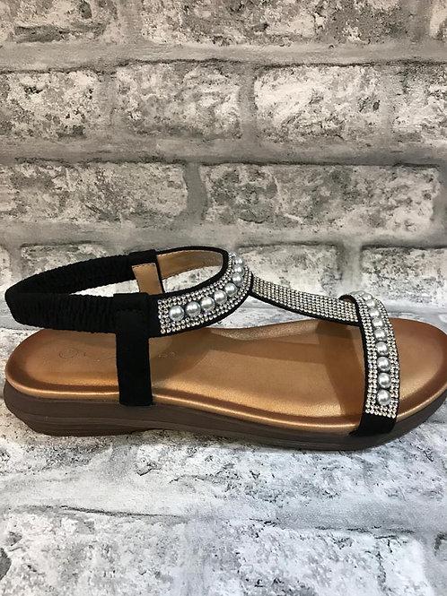 Lunar Black Pearl Sandals