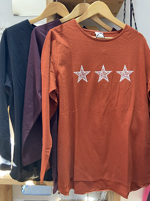Dreams long sleeve cotton 3 star Top choice of colours