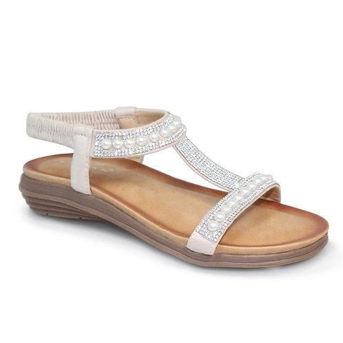Lunar Pearl  nude sandal