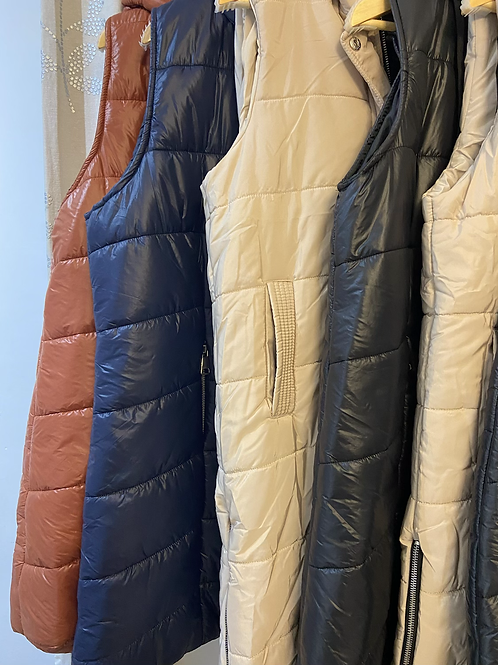 Gillet long choice of colours