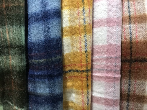 SALE Soft thick checked scarf colours to choose from