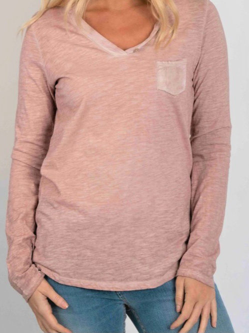 Suzy D Cotton Top with pocket