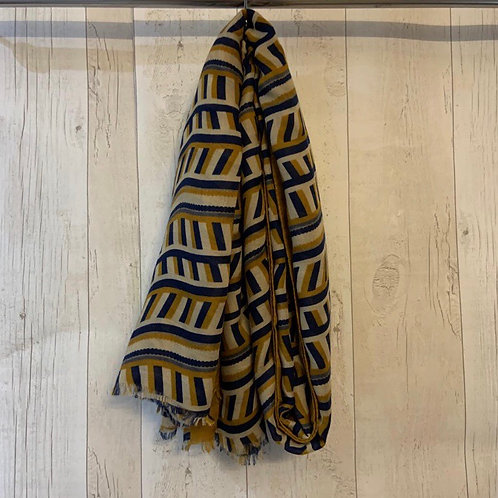 Blocks scarf mustard