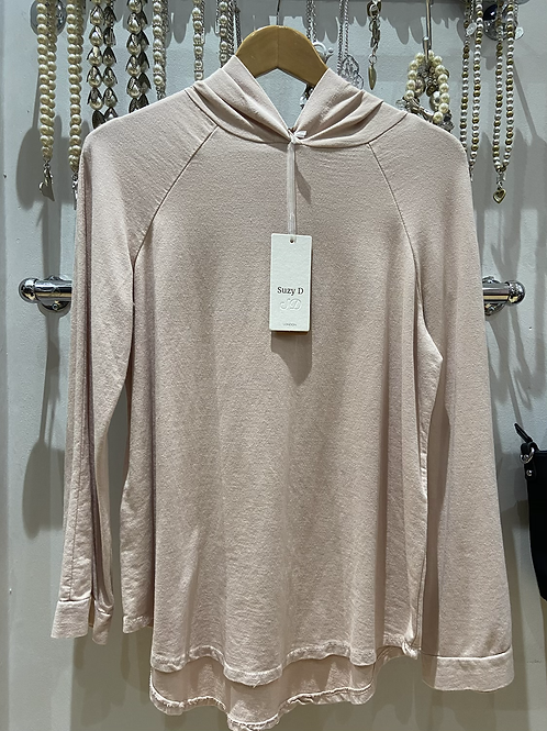 Suzy D basics pink cotton hoodie