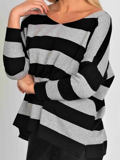 Suzy D striped jumper cool fabric