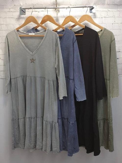 Cotton Star Dress knee length