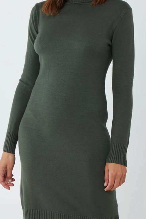 Roll neck jumper dress choice of colours