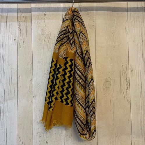 Zig Zag scarf mustard