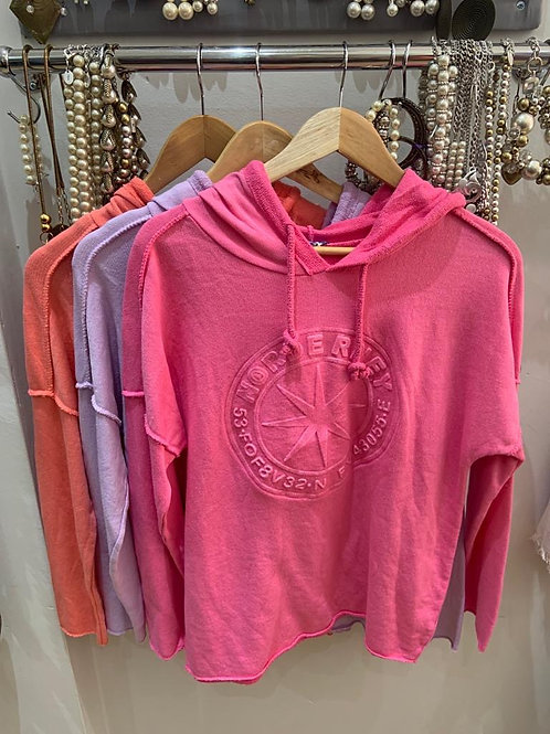 Hooded summer sweat top 100%cotton