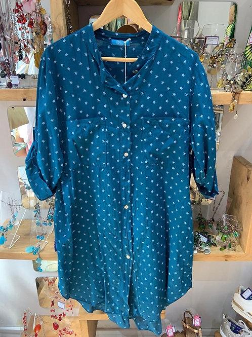Teal Long star shirt tunic