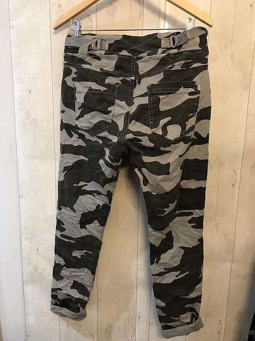 Camo pants grey 100% cotton
