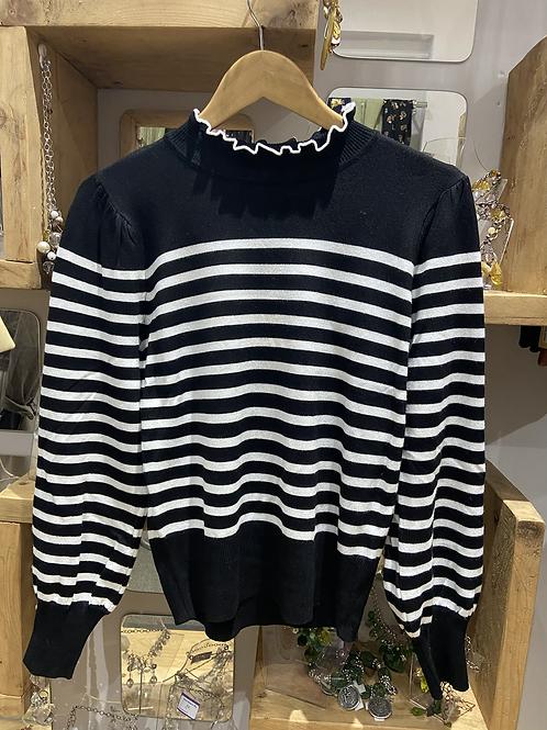 Black n white stripe jumper