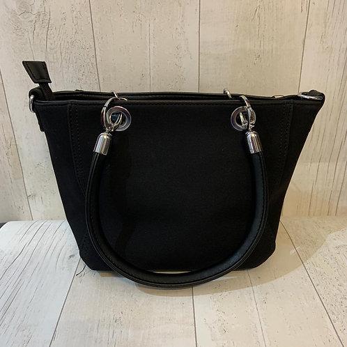 Milan across body tote bag in Black