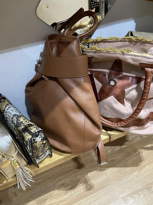 Real leather Italian Tan rucksack