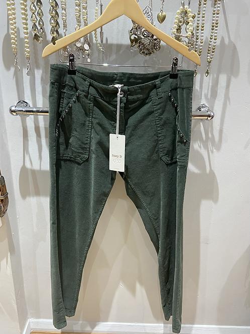SALE Suzy D Cord Olive pants