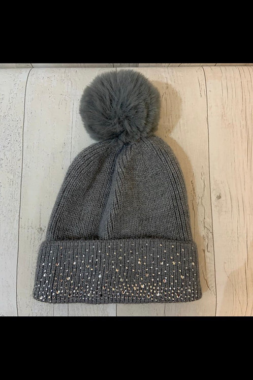 Grey Sparkle Hat