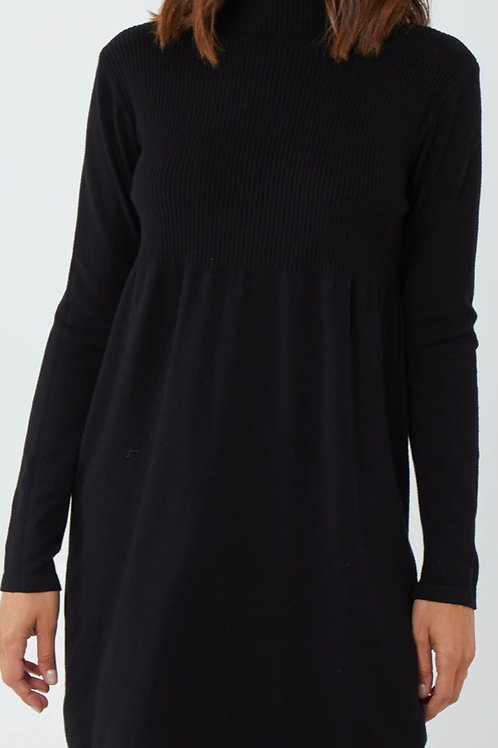 High neck knitted dress choice of colours