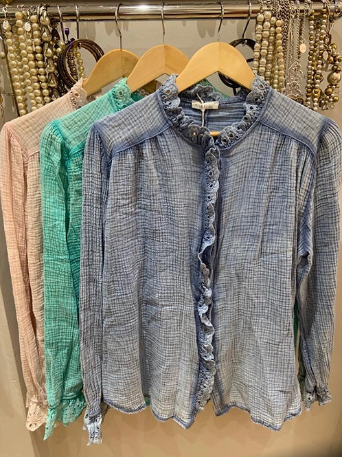 Miss Sugar frill blouse choice of colours
