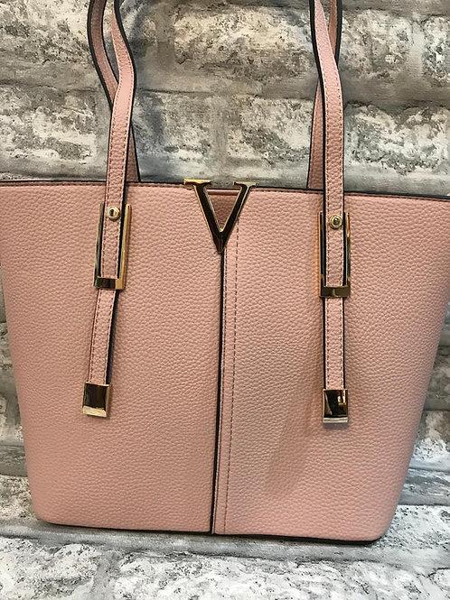 Milan Pink V Tote Bag
