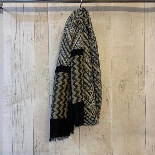 Zig Zag scarf grey
