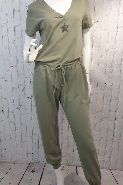 Star jumpsuit with sleeve choice of colours