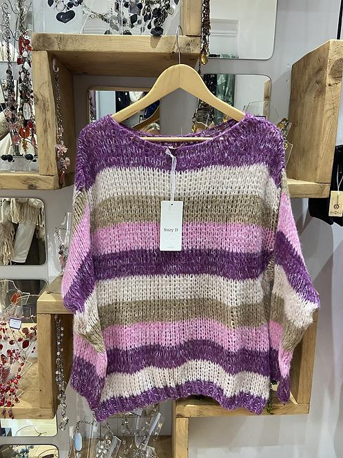 Suzy D pink stripe jumper