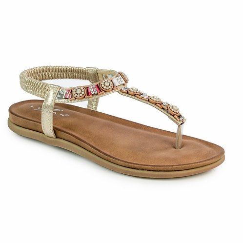 Lunar Gold beaded sandal