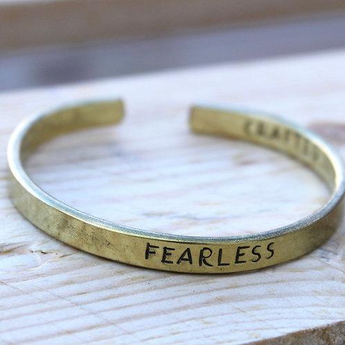 Brass Bangle Fearless