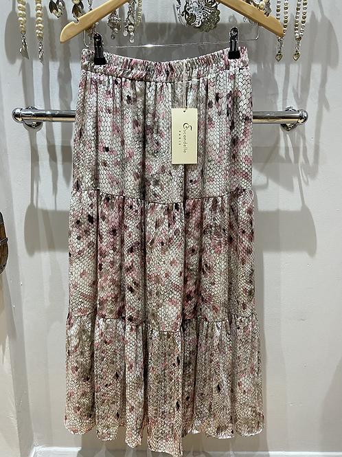 SALE layered skirt pink leopard