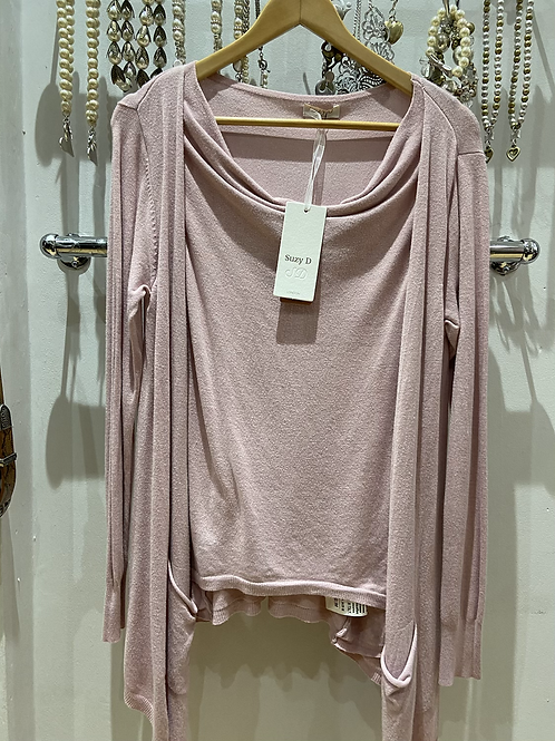SALE Suzy D cardy top one size pink