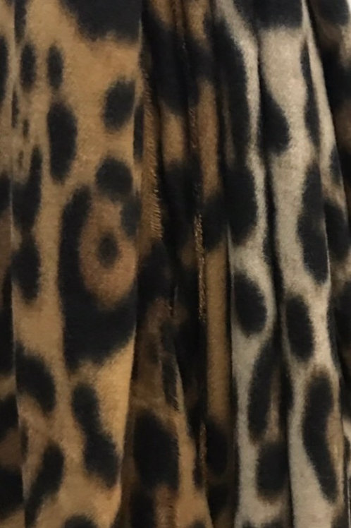 Leopard fleece scarf 2 colours to choose from