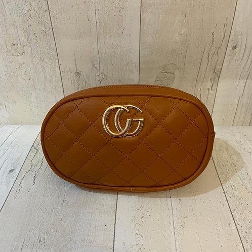 Milan quilted bum bag in tan