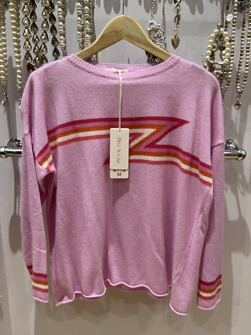 SALE Miss Sugar Cashmere pink flash jumper