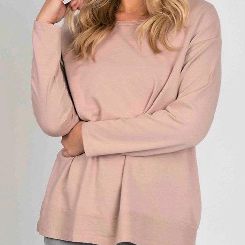 Suzy D pink top 100% cotton